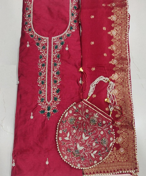 Embroidered Salwar Suit Exporters In Kurung Kumey