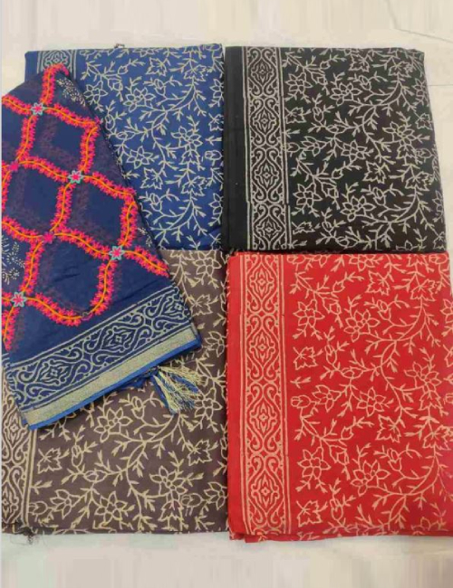 Women Unstitched Ladies Suit Suppliers In Janjgir-Champa